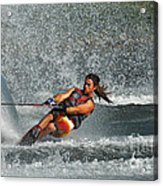Water Skiing Magic Of Water 15 Acrylic Print by Bob Christopher