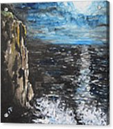 Water Under The Moonligt Acrylic Print by Cheryl Pettigrew