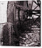 Water Wheel Old Mill Cherokee North Carolina  Acrylic Print by Susanne Van Hulst