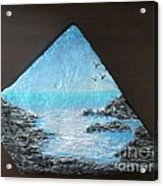 Water With Rocks Acrylic Print by Monika Shepherdson