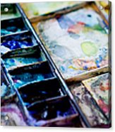 Watercolors Acrylic Print by Kim Fearheiley