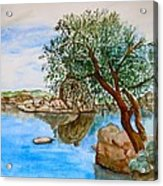 Watson Lake Prescott Arizona Peaceful Waters Acrylic Print by Sharon Mick