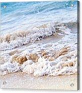 Waves Breaking On Tropical Shore Acrylic Print by Elena Elisseeva