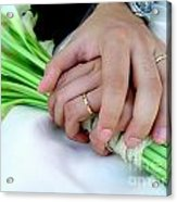 Wedding Rings Acrylic Print by Carlos Caetano