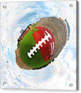 Wee Football Acrylic Print by Nikki Marie Smith