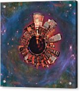 Wee Manhattan Planet Acrylic Print by Nikki Marie Smith
