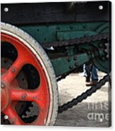 Wheels Of Steam Powered Truck 7d15103 Acrylic Print by Wingsdomain Art and Photography