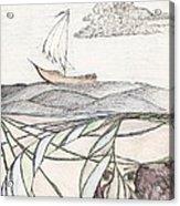 Where The Deep Currents Run... - Sketch Acrylic Print by Robert Meszaros