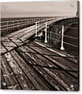 Whitby Pier  Acrylic Print by Stephen  Wakefield