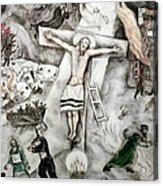 White Crucifixion Acrylic Print by Granger
