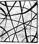 White On Black Acrylic Print by Hakon Soreide