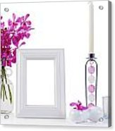 White Picture Frame In Decoration Acrylic Print by Atiketta Sangasaeng