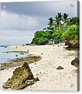 White Sand Beach Moal Boel Philippines Acrylic Print by James BO  Insogna