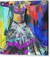 Wild Belly Dancer Acrylic Print by Barbara Kelley
