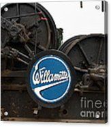 Willamette Steam Engine 7d15104 Acrylic Print by Wingsdomain Art and Photography
