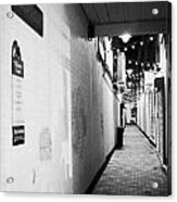 Wilson's Court One Of The Entries Oldest Streets In Belfast Northern Ireland Uk United Kingdom Acrylic Print by Joe Fox
