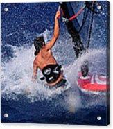 Wind Surfing Acrylic Print by Manolis Tsantakis