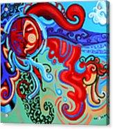 Winding Sun Acrylic Print by Genevieve Esson