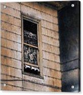 Window In Old House Stormy Sky Acrylic Print by Jill Battaglia