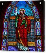Window In Trinity Church Iv Acrylic Print by Steven Ainsworth