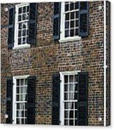 Windows At The Clover Hill Tavern Appomattox Virginia Acrylic Print by Teresa Mucha