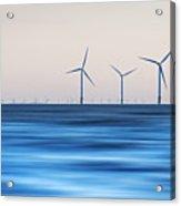 Windturbines, Burbo Bank, Crosby Acrylic Print by Ian Moran
