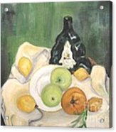 Wine And Fruit Acrylic Print by Caroline Street