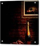 Wine And Grape Acrylic Print by Lourry Legarde