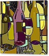 Wine Bottle Deco Acrylic Print by Peggy Wilson