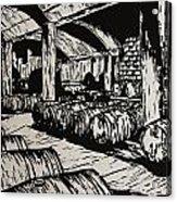 Wine Cellar Acrylic Print by William Cauthern