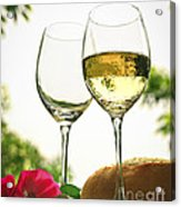 Wine Glasses Acrylic Print by Elena Elisseeva
