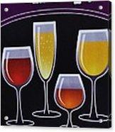 Wine Poster Acrylic Print by Marsha Heiken