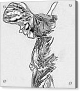 Winged Victory Of Samothrace Acrylic Print by Manolis Tsantakis