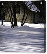 Winter Barn Acrylic Print by Rob Travis