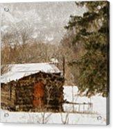 Winter Cabin 2 Acrylic Print by Ernie Echols