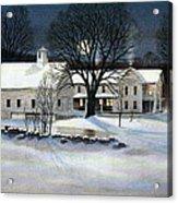 Winter Glow Acrylic Print by Karol Wyckoff