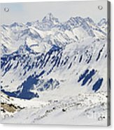Winter In The Alps - Snow Covered Mountains Acrylic Print by Matthias Hauser