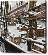 Winter On Deck Acrylic Print by Heiko Koehrer-Wagner