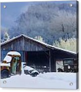 Winter Shed Acrylic Print by Ron Jones