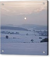 Winter Sunrise Westerwald Acrylic Print by Peter Zoeller