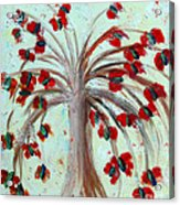 Winterblooms Acrylic Print by Ayasha Loya Aka Pari  Dominic