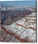 Winter's Touch At The Grand Canyon Acrylic Print by Sandra Bronstein