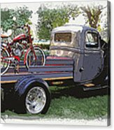 Wizzer Cycle At The Hot Rod Show Acrylic Print by Steve McKinzie