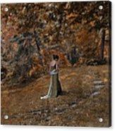Woman In Green Gown  Acrylic Print by Jill Battaglia