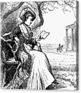 Woman Reading, 1876 Acrylic Print by Granger