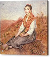 Woman With A Bundle Of Firewood Acrylic Print by Pierre Auguste Renoir