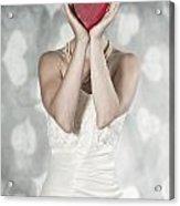Woman With Heart Acrylic Print by Joana Kruse