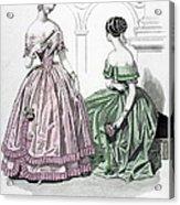 Womens Fashion, 1843 Acrylic Print by Granger