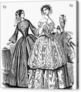 Womens Fashion, 1853 Acrylic Print by Granger