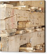Wood Pallets Acrylic Print by Shannon Fagan